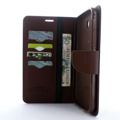 Mercury Fancy Diary Plånboksfodral till Samsung Galaxy Tab 3 7,0 (Svart Brun)