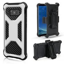 OEM2-in-1 mobilskal med bältesfodral till Galaxy S8 Plus - Vit