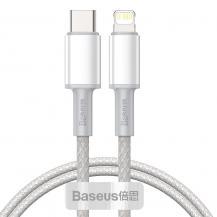 BASEUSBASEUS Data Pd20W Type-C Lightning kabel 200cm Vit