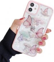 A-One BrandBling Star Butterfly Skal till iPhone 12 / 12 Pro - Rosa