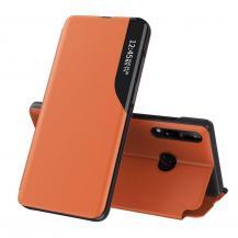 HurtelEco Leather View Case Huawei P40 Lite E Fodral orange