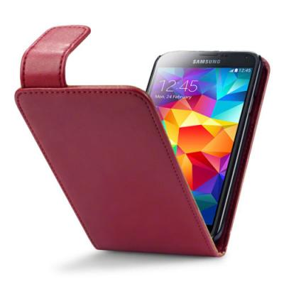 Flipfodral med kortfack till Samsung Galaxy S5 - Röd
