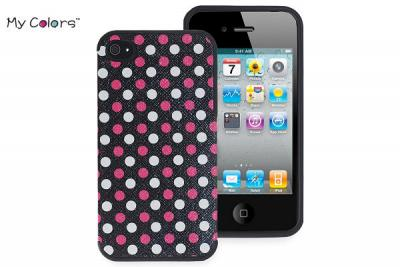 My Colors FlexiCase Skal till Apple iPhone 4 / 4S (Polka Dot)
