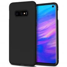 A-One BrandTwill Texture Flexicase Skal till Samsung Galaxy S10P - Svart