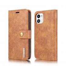 DG.MINGDG.MING Detachable Äkta Läder Plånboksfodral iPhone 12 Mini - Brun