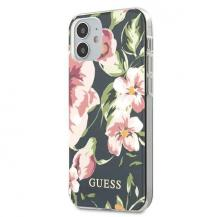 GuessGuess Skal iPhone 12 mini Flower Collection - Navy Blå