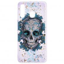 OEMGlitter Mobilskal till Samsung Galaxy A50 - Skull