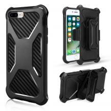 A-One Brand2-in-1 mobilskal med bältesfodral till iPhone 8 Plus / 7 Plus - Svart
