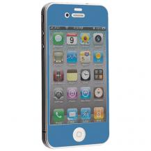 A-One BrandColored Tempered Glass Skärmskydd till Apple iPhone 4 / 4S - Ljus Blå