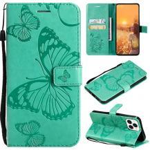 OEMFjärilar Plånboksfodral iPhone 13 Pro - Turkos