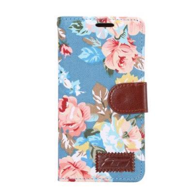 Plånboksfodral till Sony Xperia Z5 - Rosor Blå