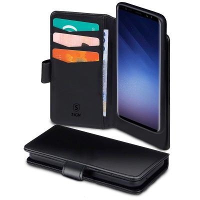 SiGN Plånboksfodral 2-in-1 för Samsung Galaxy S10 - Svart