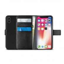 PuroPuro Milano EcoLeather Wallet till iPhone XR - Svart