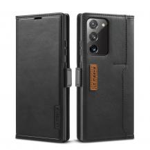LC.imeekeLC.IMEEKE Leather Fodral Till Samsung Galaxy Note 20 - Svart