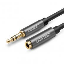 UGrönUGreen AUX 3,5 mm mini jack extensionssladd Kabel 1m Silver
