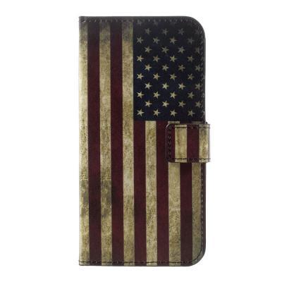 Plånboksfodral till Huawei P10 - Amerikanska Flaggan
