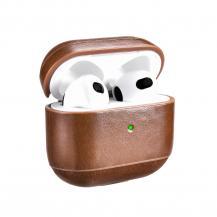 ICARERiCarer Läder Vintage Natural Skal Airpods 3 - Brun