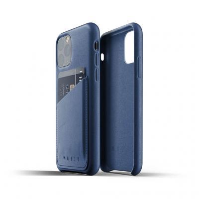 Mujjo Full Leather Wallet Case till iPhone 11 Pro - MonacoBlå