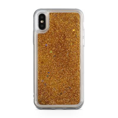 Glitter Skal till iPhone XS / X - Guld