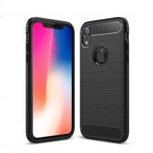 A-One BrandCarbon Fiber Brushed Mobilskal till Apple iPhone XR - Svart