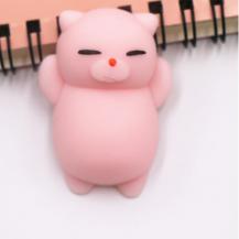 A-One BrandMochi Toys Animals - Squishy Fidget - 4-Pack - Rosa