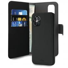 PuroPuro EcoLeather Detachable Plånboksfodral iPhone 12 Pro Max - Svart