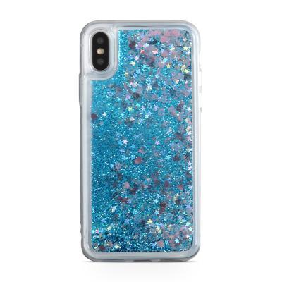 Glitter Skal till iPhone XS / X - Blå