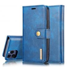 DG.MINGDG.MING Äkta Läder Plånboksfodral iPhone 13 Pro - Blå