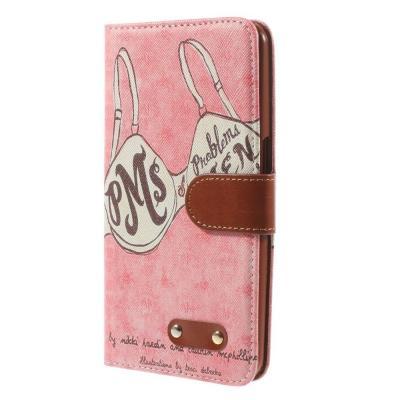 Plånboksfodral till Google Nexus 6 - Pink Pattern