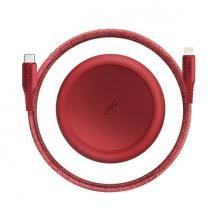 UNIQUNIQ kabel MFI Halo USB-C-lightning 18W 1,2m carmine Röd