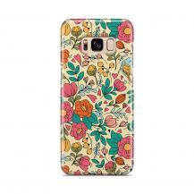 Skal till Samsung Galaxy S8 - Retro Blommor - Beige