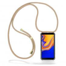 CoveredGear-NecklaceCoveredGear Necklace Case Samsung Galaxy J4 Plus - Beige Cord