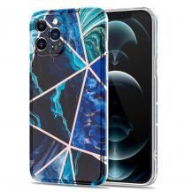 Boom of SwedenBoom of Sweden Grid skal iPhone 12 & 12 Pro - Blå Marmor
