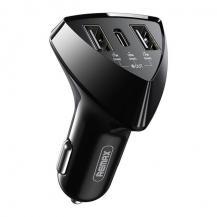 RemaxRemax Billaddare 2x USB/USB Type C 35 W 3,1 A Svart