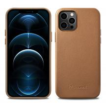 ICARERiCarer Äkta Läder Magsafe Skal iPhone 12 Pro Max - Brun