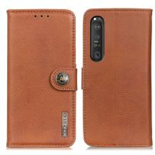 KHAZNEHKhanzeh - Plånboksfodral Sony Xperia 1 III - Brun