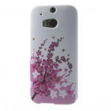 A-One BrandFlexiSkal till HTC One M8 - Körsbärsblom