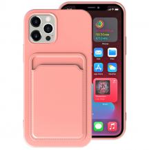 OEMiPhone 13 Pro Max Skal med Kortfack - Rosa