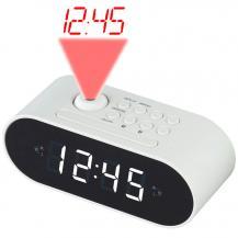 DenverDenver Klockradio med projektion Vit