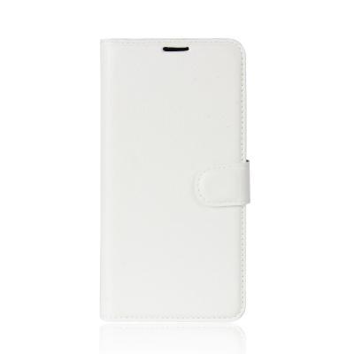 Litchi Plånboksfodral till Samsung Galaxy A8 (2018) - Vit