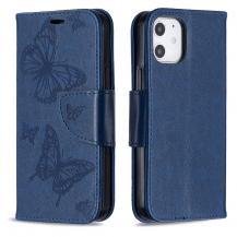 OEMImprint Butterfly Plånboksfodral iPhone 12 mini - Blå