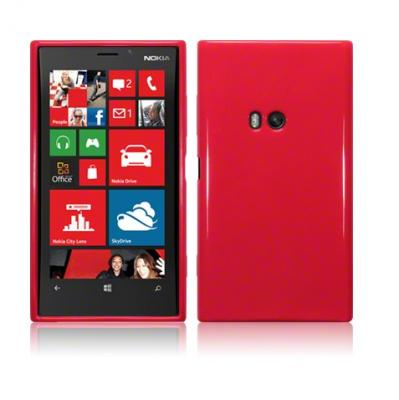FlexiCase Skal till Nokia Lumia 920 - Solid Red