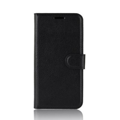 Litchi Plånboksfodral till OnePlus 6 - Svart
