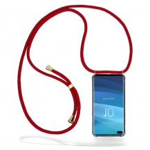 CoveredGear-NecklaceCoveredGear Necklace Case Samsung Galaxy S10 Plus - Maroon Cord
