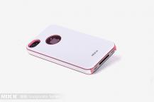 ROCKRock Invigorate skal till Apple iPhone 4/4S (Rosa and White)