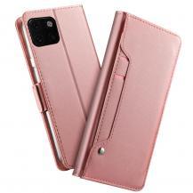 OEMPlånboksfodral med Spegel till Huawei P40 - Rose Gold