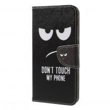 TaltechPlånboksfodral för Samsung Galaxy A7 2018 - Don't Touch My Phone