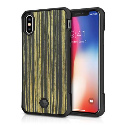 Itskins Atom DLX Skal till iPhone XS / X - Wood Brun