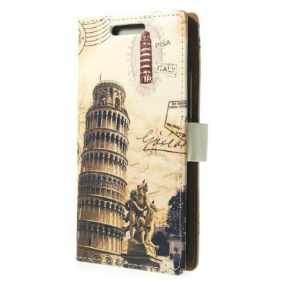 Plånboksfodral till HTC One M8 (2014) - Lutande Tornet I Pisa