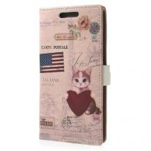 A-One BrandPlånboksfodral till HTC One M8 (2014) - Amerikansk Katt
